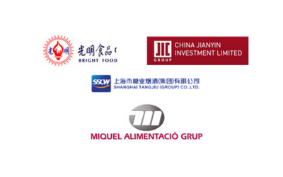 Consortium by Bright Food,SSCW and JIC for the acquisition of 100% of Miquel Alimentació Grup